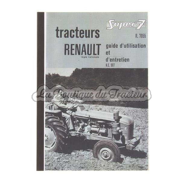 guide d utilisation et d entretien renault 7055 super 7 la boutique du tracteur. Black Bedroom Furniture Sets. Home Design Ideas