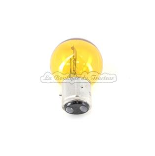 Yellow bulb 12V, 45/40W, 3 lugs, 2 contacts, BA21D (unit)