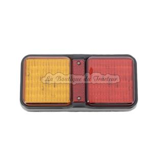 Rectangular trailer light with LED 12 / 24V right / left for all types of tractor. (2 screws)